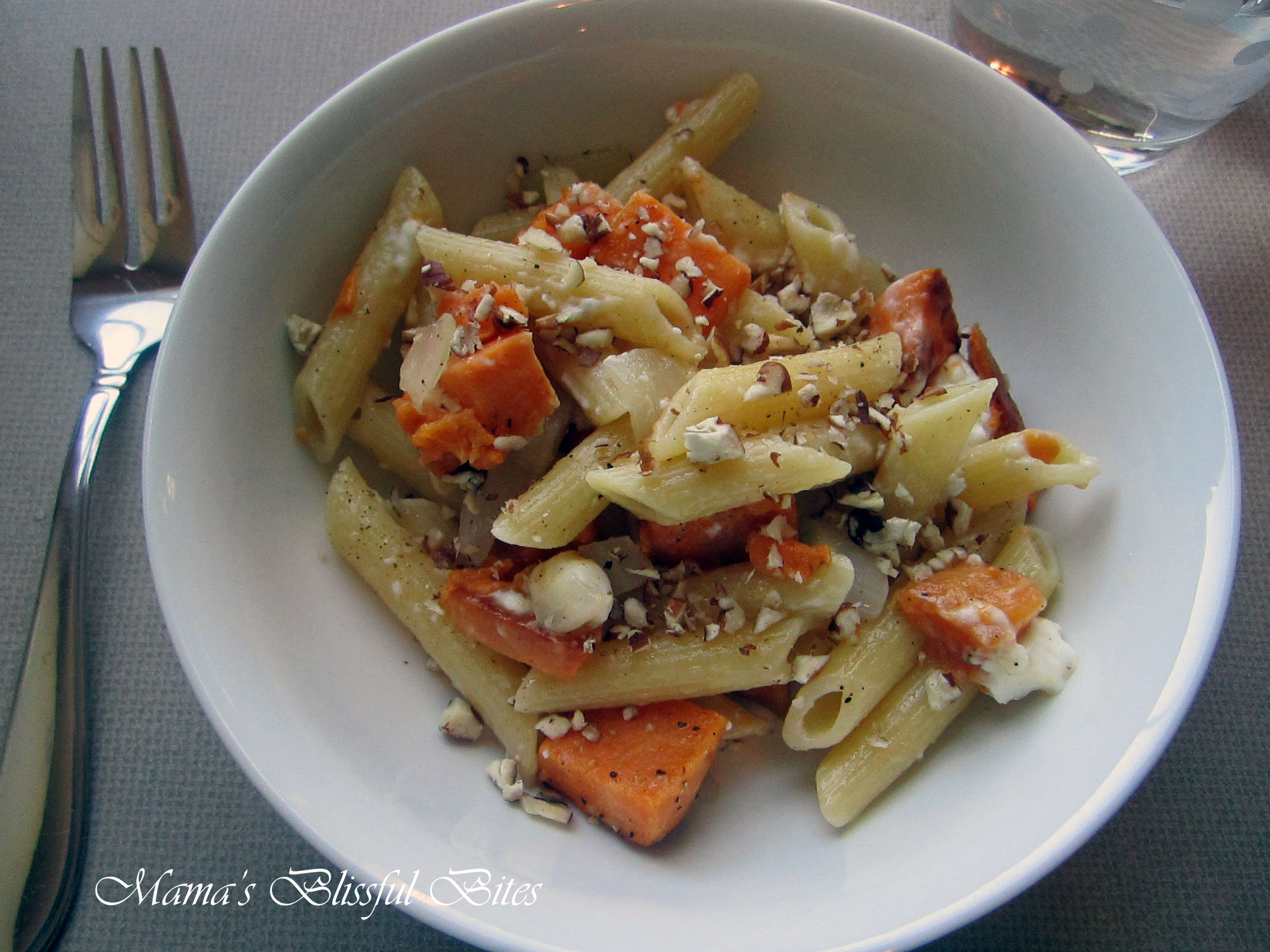 Fall Time Pasta - Sweet potato pecan