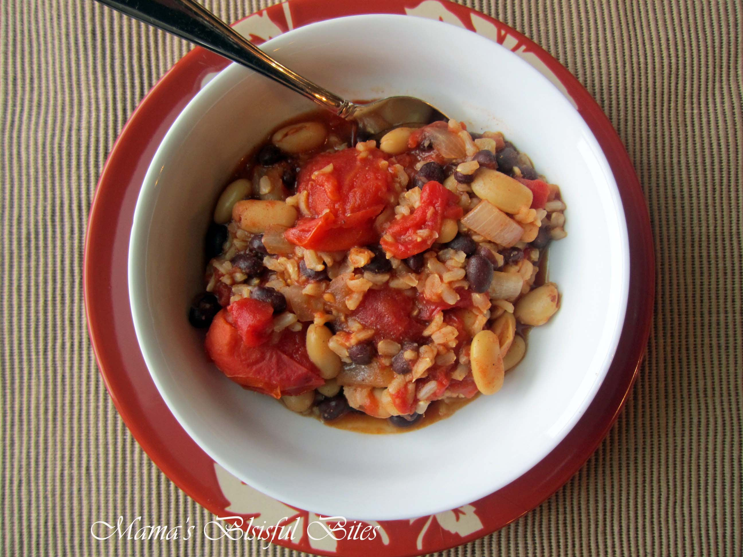 Bean and Rice Healthy Chili