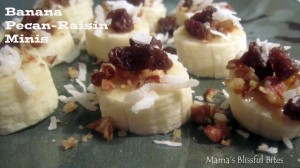 Raw Banana Pecan-Raisin Bites