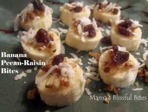 Banana Pecan Raisin Bites