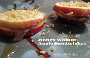 Honey Walnut Apple Sandwiches