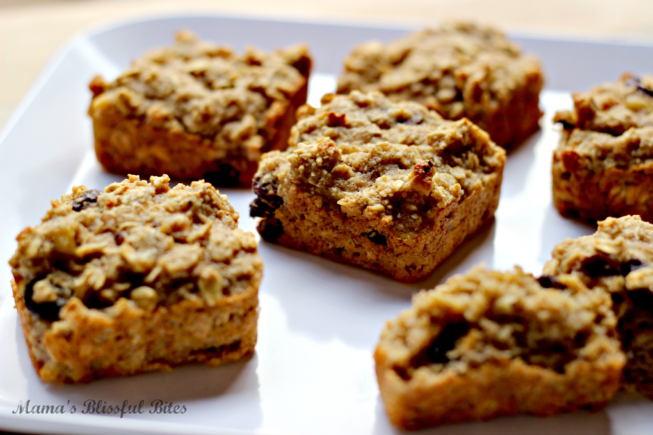 Oat Muffins with Raisins and Walnuts